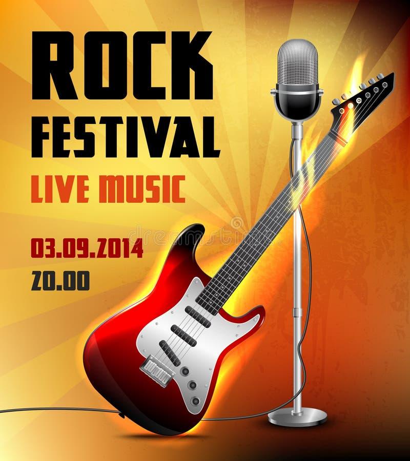 Arts Live Song Room: Rock Concert Poster Stock Vector