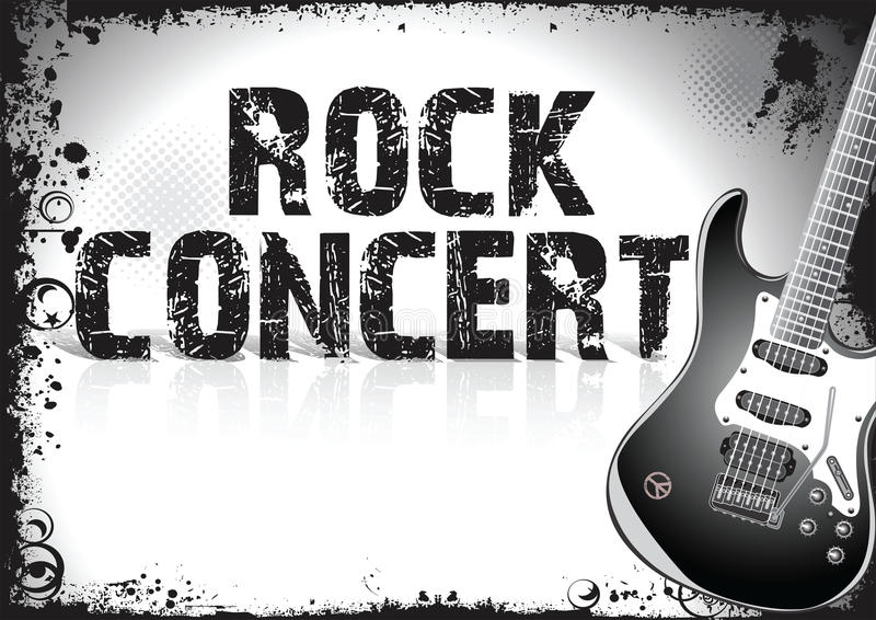 Rock concert poster stock illustration. Illustration of arts - 54680765