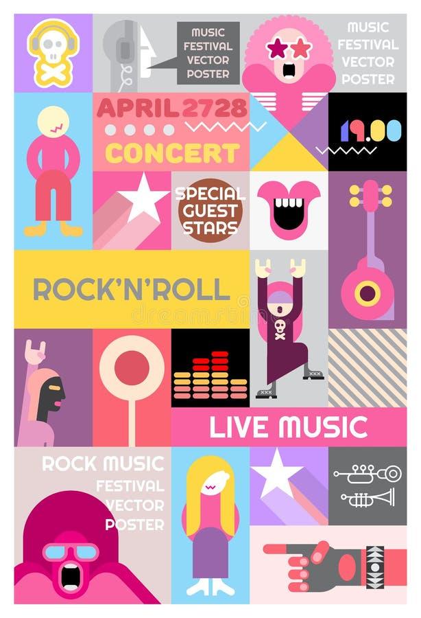 Download Rock Concert Posters Design Stock Vector