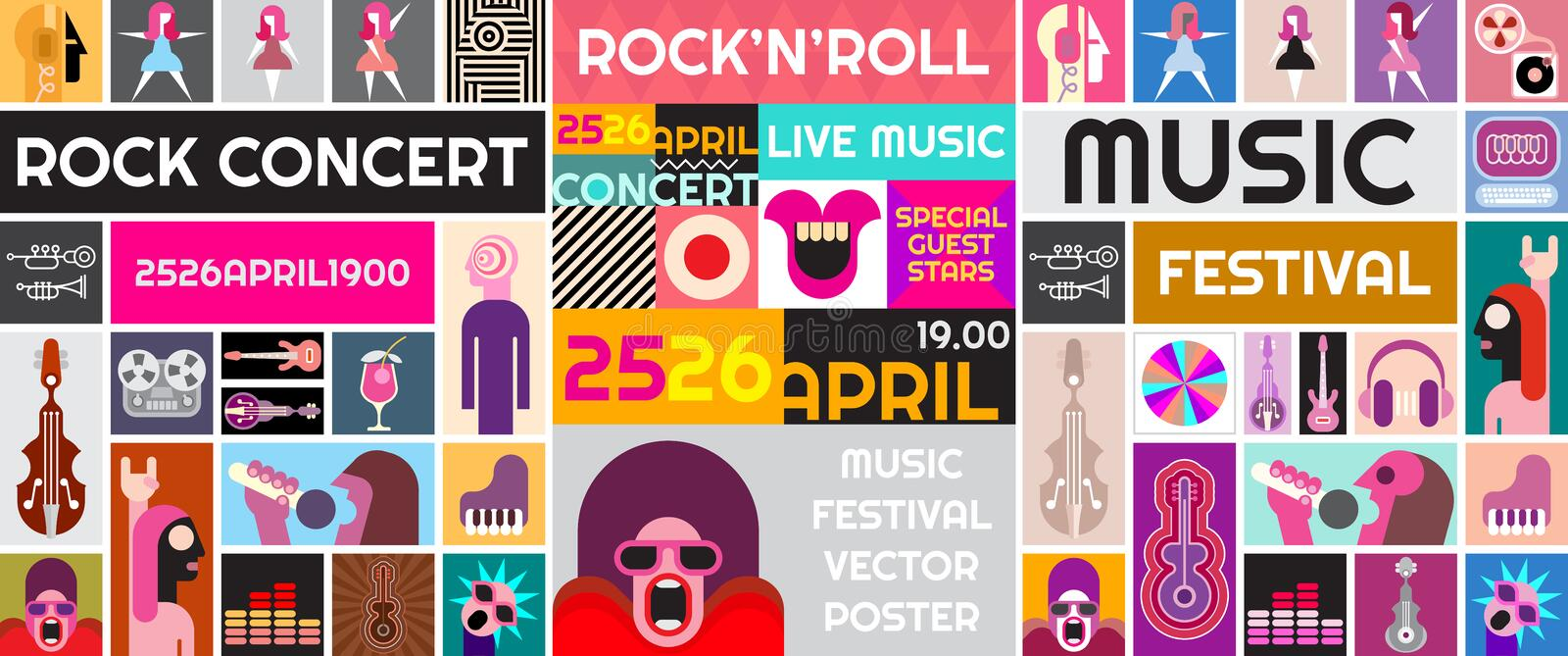 Rock Concert Vector Poster royalty free illustration