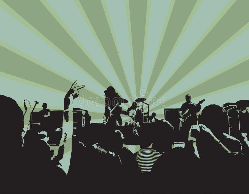Rock Concert XI royalty free illustration