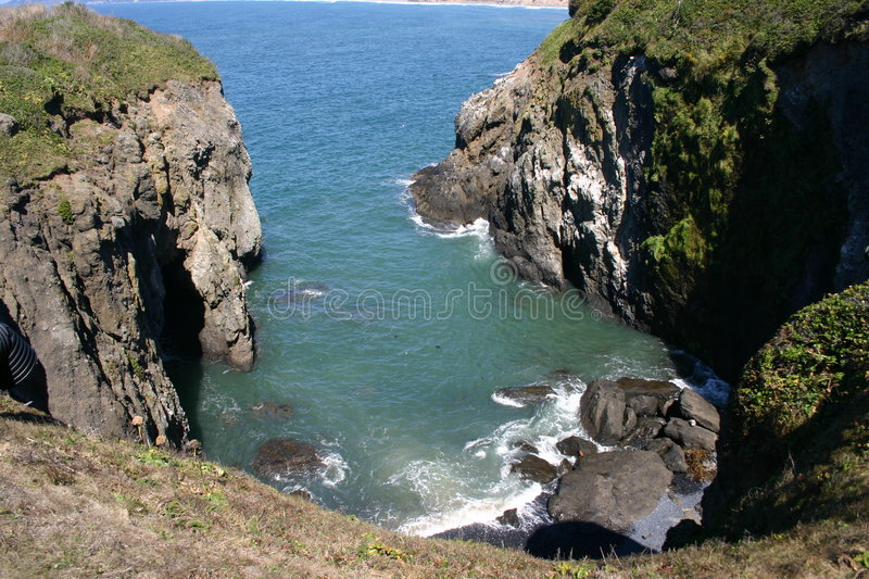Rock cove on coast royalty free stock photography