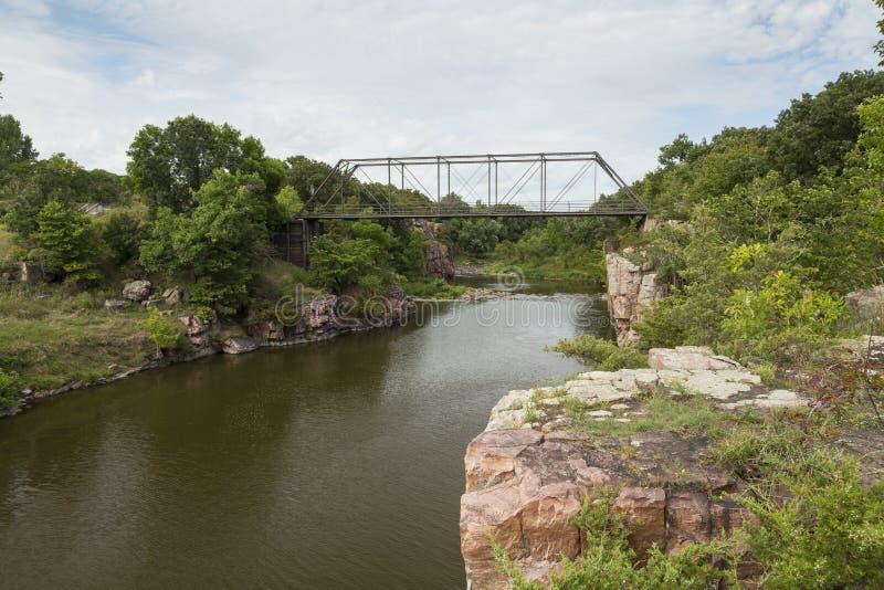 Rock Creek fendu photo stock