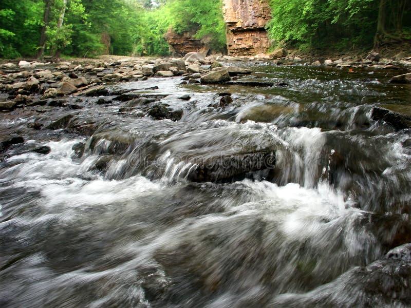 Rock Creek monte en cascade l'Illinois photos stock