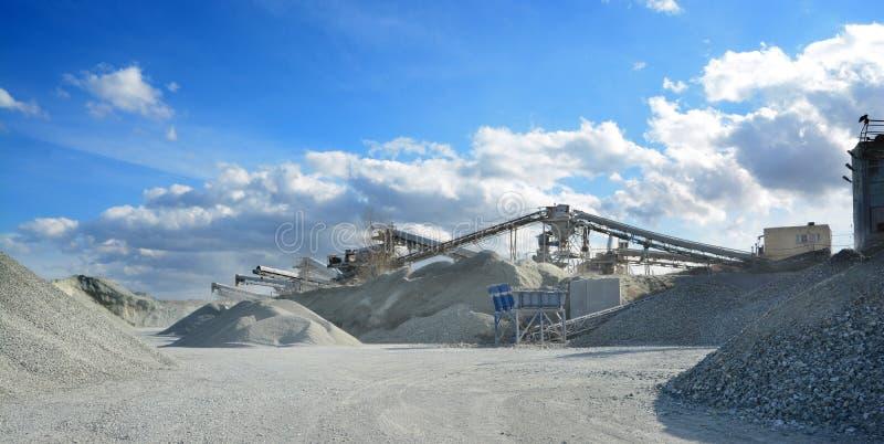 Rock crusher machine royalty free stock photo