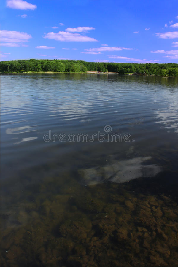 Rock Cut State Park - Illinois. View of Pierce Lake at Rock Cut State Park in northern Illinois stock photography
