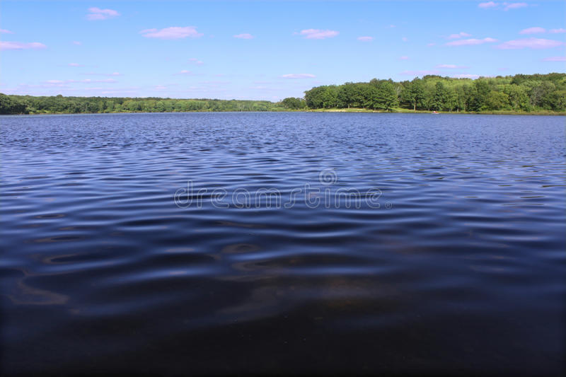 Rock Cut State Park - Illinois. View of Pierce Lake at Rock Cut State Park in northern Illinois stock image