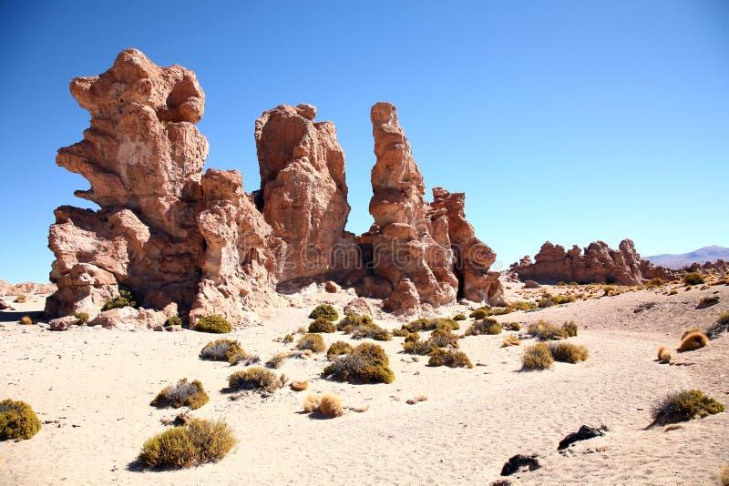 Rock Desert, Bolivia royalty free stock photography
