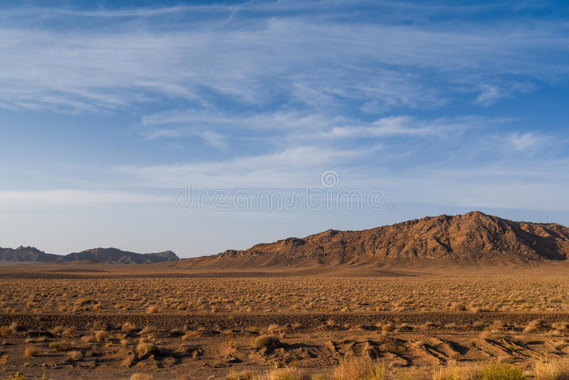 Rock desert and mountain landscape in Iran stock images