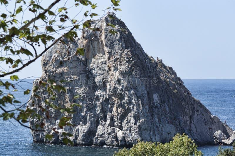 Rock Diva at the shore of Simeiz. Crimea, Ukraine stock photography