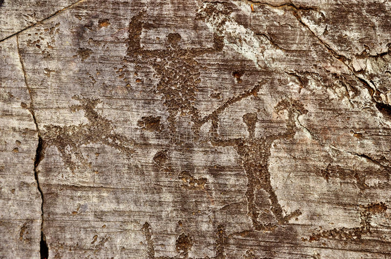 Rock Drawings in Valcamonica 7 stock photos