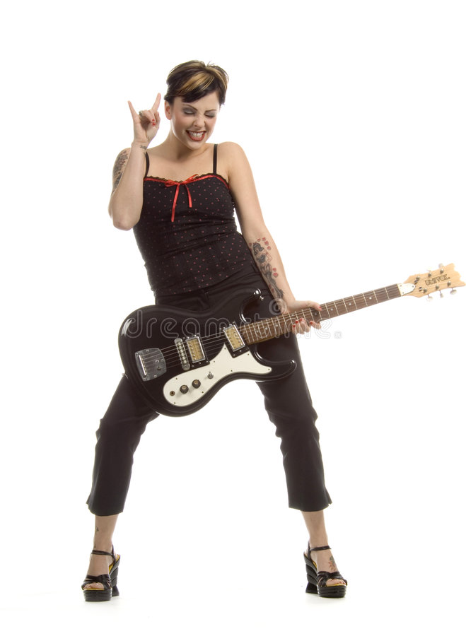 Rock et femmes images stock