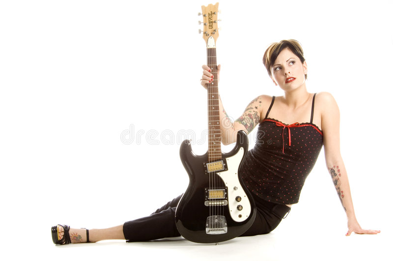 Rock et femmes photographie stock