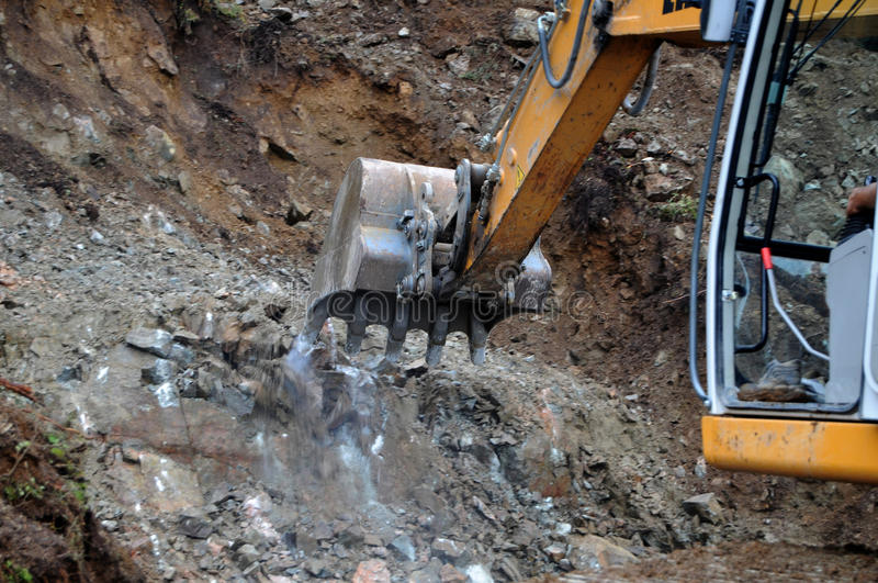 Download Rock Excavation stock image. Image of busy, active, building - 24062943