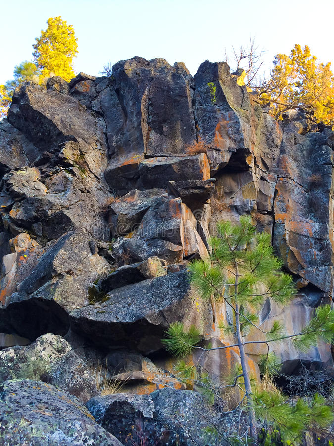 Rock Exploration Deschutes Forest royalty free stock photo