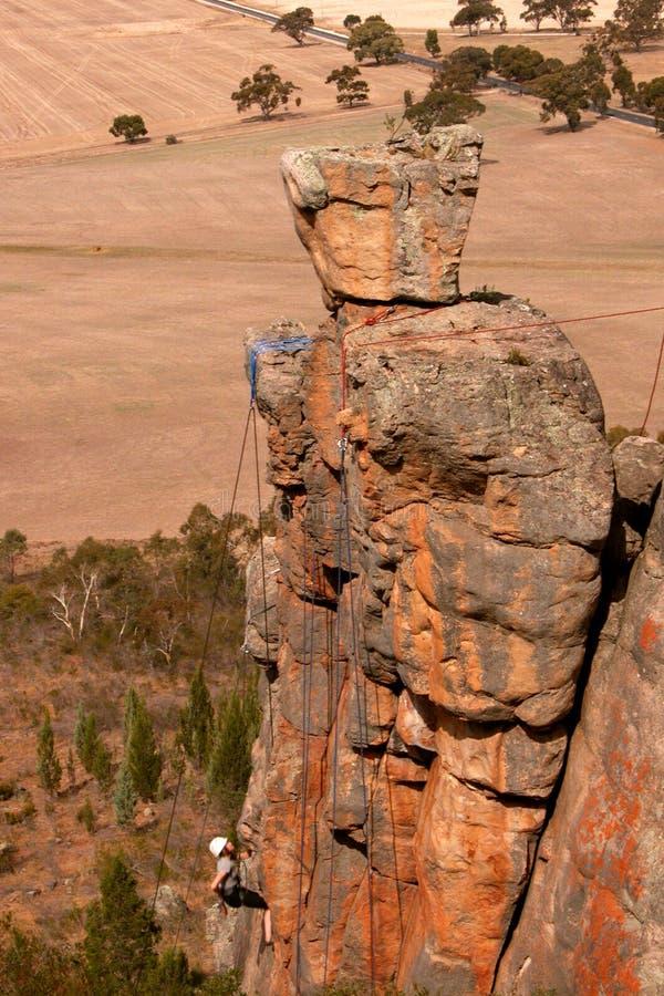 rock för arapiles klättraremt arkivbild
