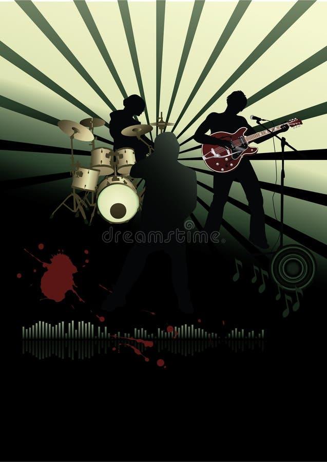 rock för bandfestivalaffisch royaltyfri illustrationer