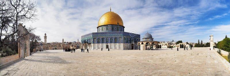 rock för kupoljerusalem moské royaltyfria bilder