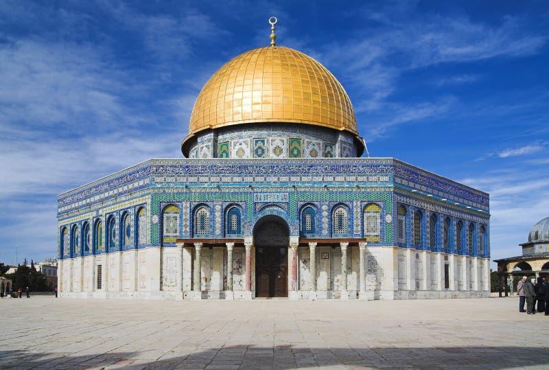 rock för kupoljerusalem moské royaltyfri bild