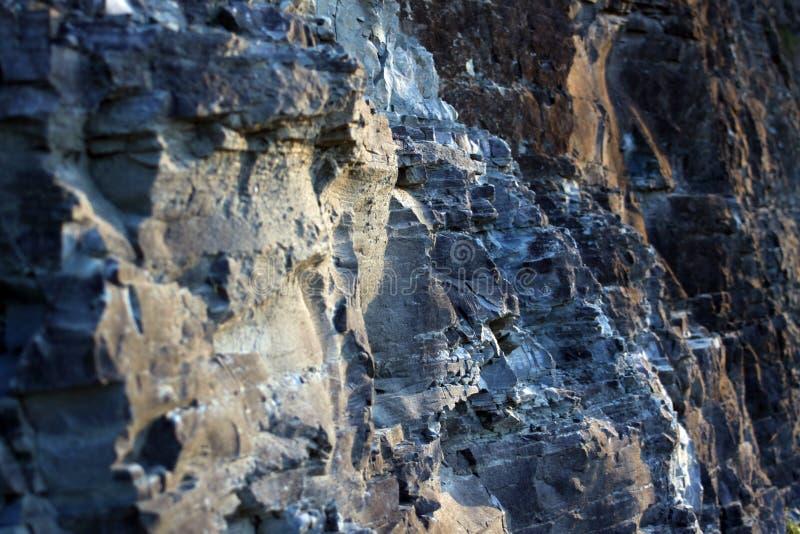 Rock face, Guntersville, Alabama. Rock face, rough hewn texture, Guntersville, Alabama royalty free stock image