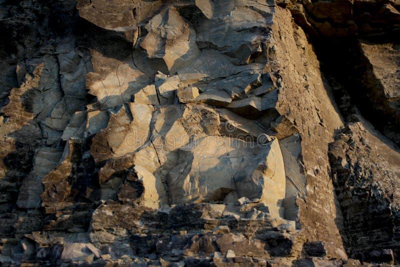 Rock face, texture, Guntersville, Alabama. Rock face, rough hewn texture, Guntersville, Alabama stock image