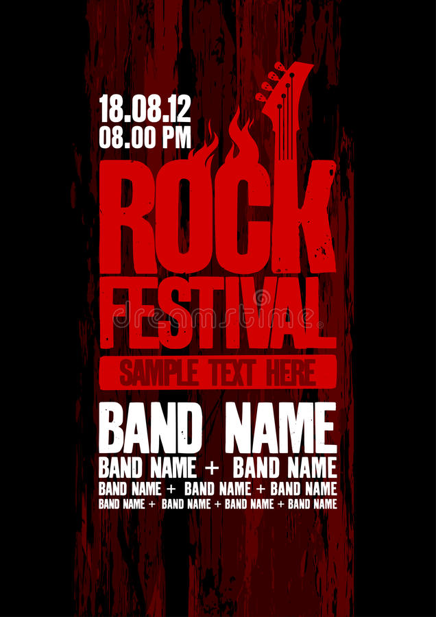 Download Rock Festival Design Template. Stock Vector - Illustration of illustration, evil: 25519978