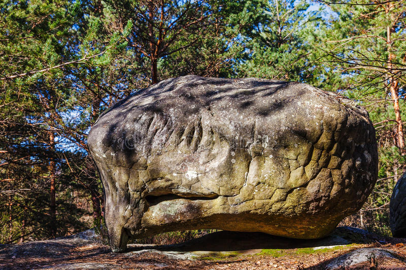 Download Rock In Fontainebleau Forest Stock Image - Image: 27264525