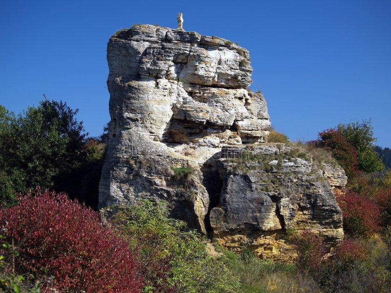 Rock formation. Details of a rural rock formation in Slovakia stock image