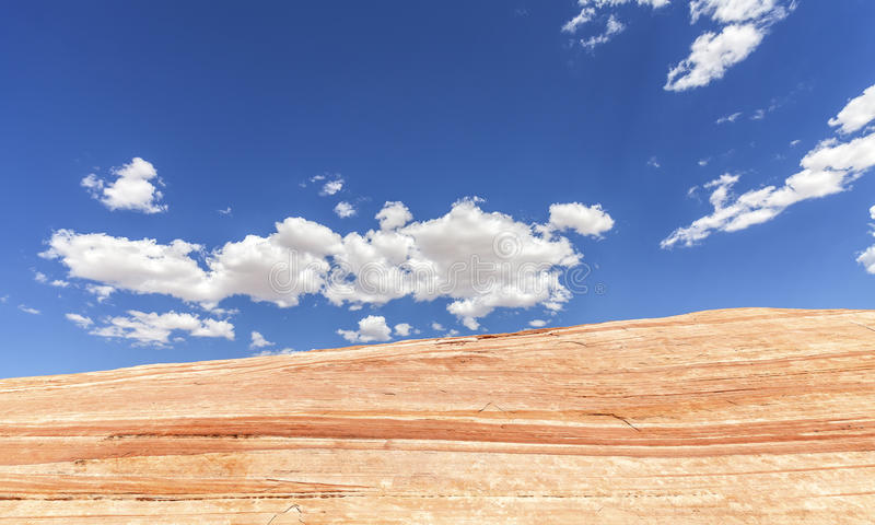 Rock formation against blue sky, Valley of Fire, Nevada, USA royalty free stock photos