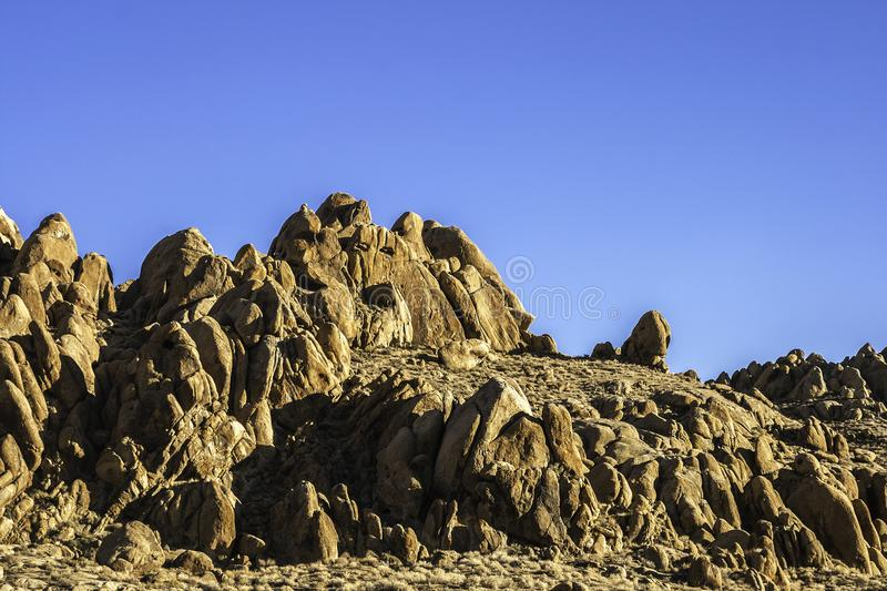 Rock formation in the Alabama Hills royalty free stock photo