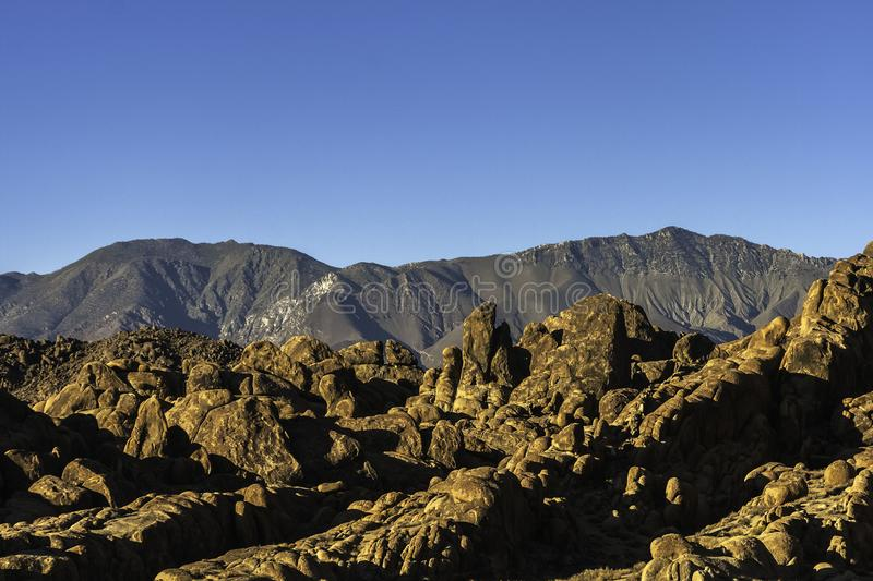 Rock formation in the Alabama Hills stock images