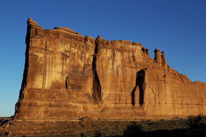 Rock formation, Arches National Park, Utah royalty free stock photo