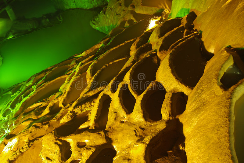 Rock Formation In A Cave Royalty Free Stock Images