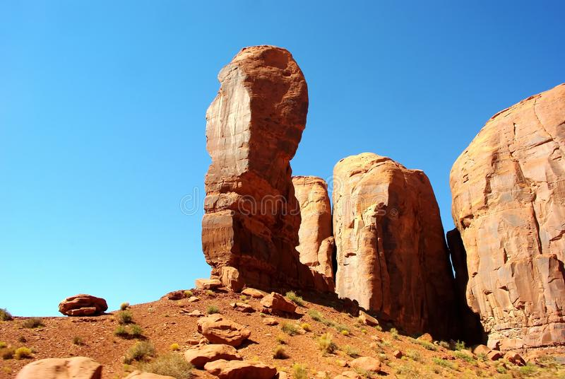 Rock formation in desert royalty free stock photos