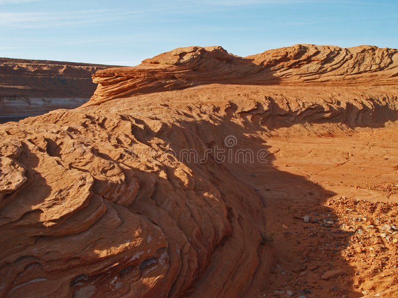 Rock formation in the glen canyon royalty free stock images