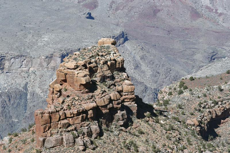 Rock formation inside the Grand Canyon stock image