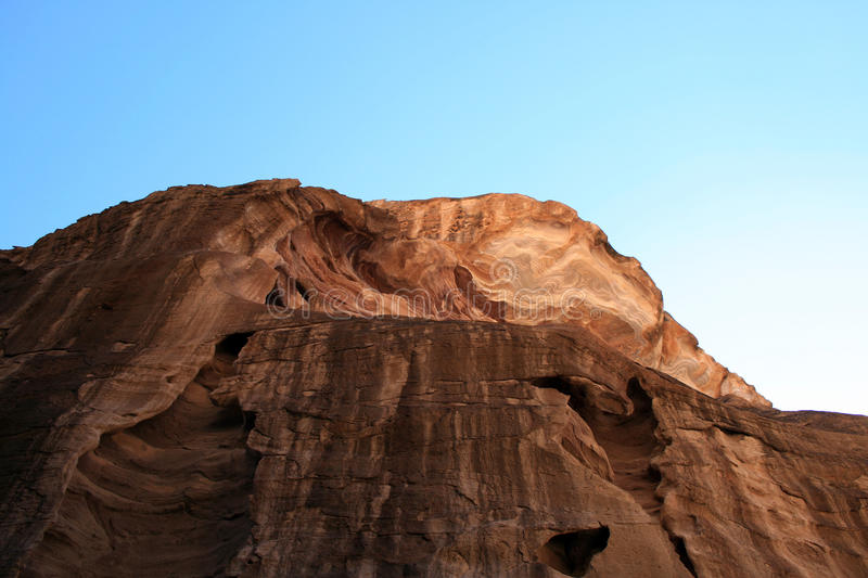 Rock formation at Petra stock images