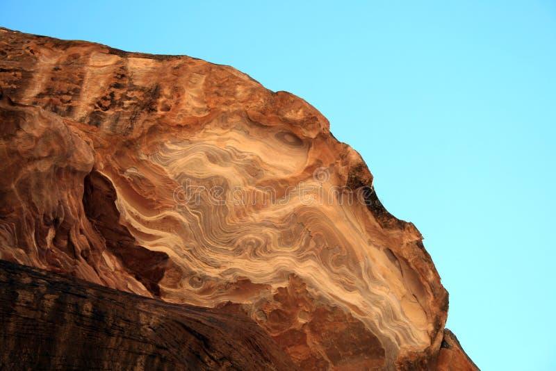 Rock formation at Petra royalty free stock photo