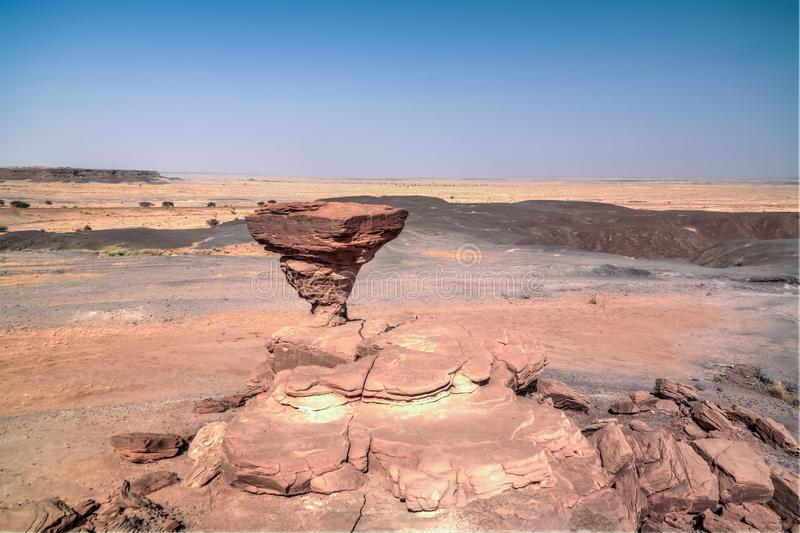 Rock formation at Sahara desert near Tchirozerine region, Agadez, Niger. Rock formation at Sahara desert near Tchirozerine region near Agadez, Niger stock photos