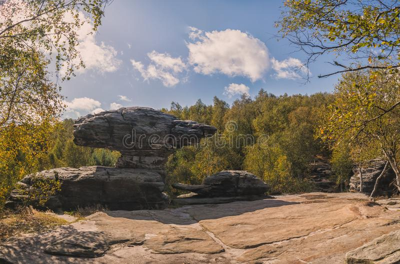 Rock formation in Sandstone Mountains The Tisa Rocks, Tisa Walls, Czech republic. Rock formation in Sandstone Mountains The Tisa Rocks, Tisa Walls Tiske steny stock photography