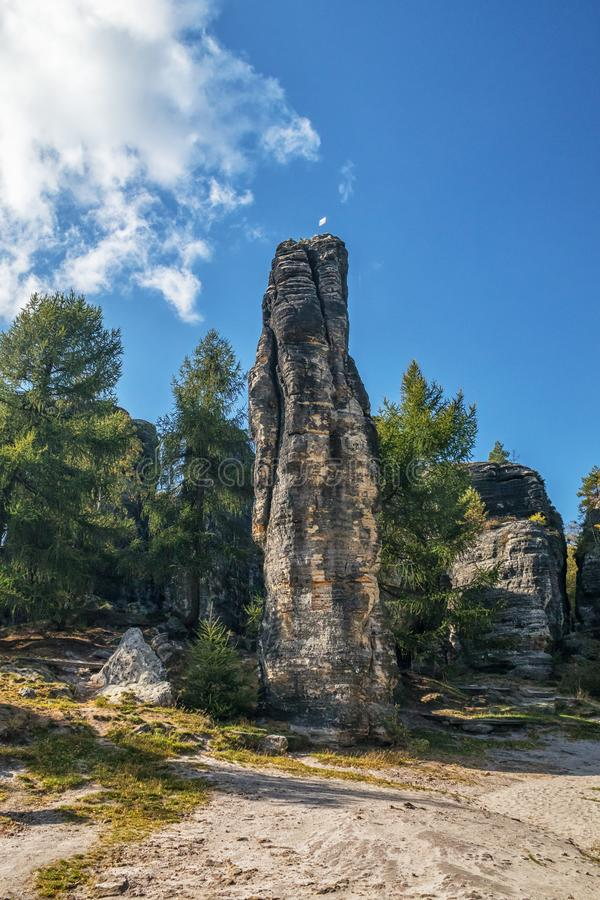 Rock formation in Sandstone Mountains The Tisa Rocks, Tisa Walls, Czech republic. Rock formation in Sandstone Mountains The Tisa Rocks, Tisa Walls Tiske steny royalty free stock photos