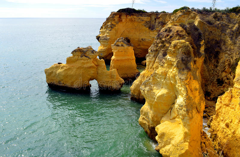 Vale Do Olival rock formation. Rock formation in Vale Do Olival Portugal stock photos