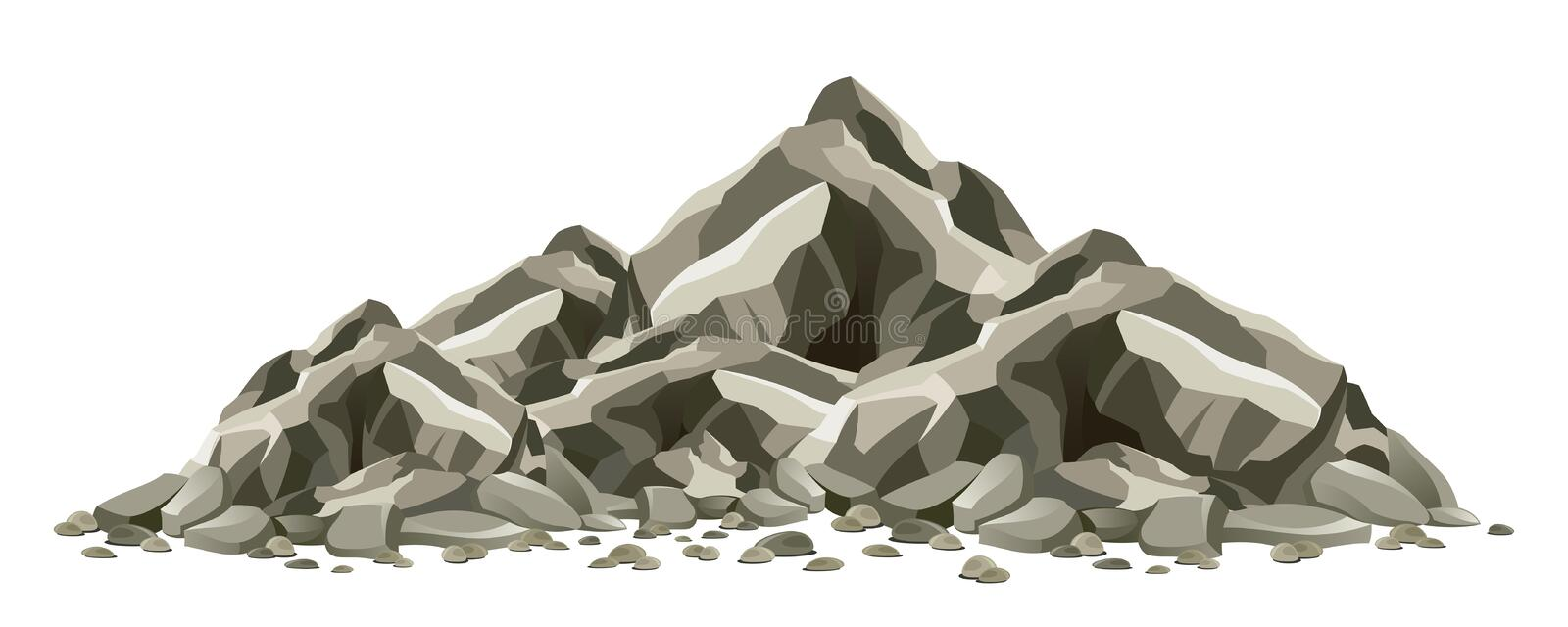 Rock formation. On a white background vector illustration