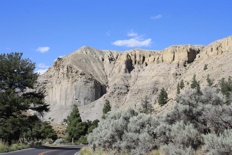 Rock Formation At Yellowstone National Park Stock Photography