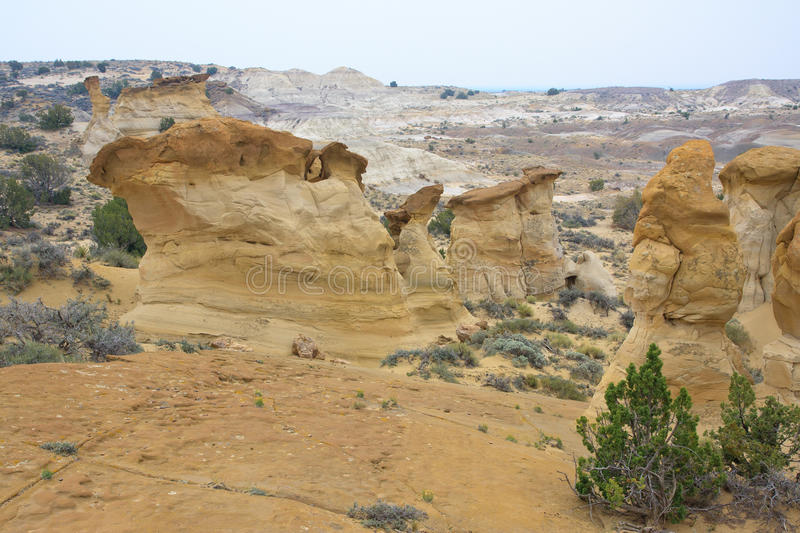 Rock formations. Rock formation in Denazin Wilderness, New Mexico royalty free stock photography