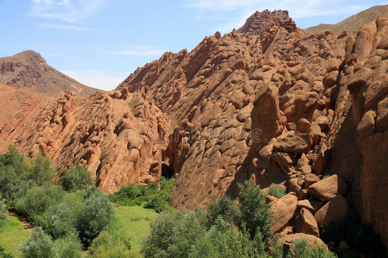 Rock formations in Morocco stock images