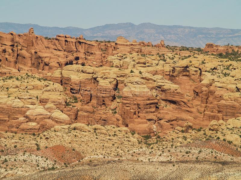 Rock Formations at Arches National Park in Utah royalty free stock photography