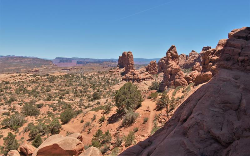 Rock Formations at Arches National Park in Utah royalty free stock images