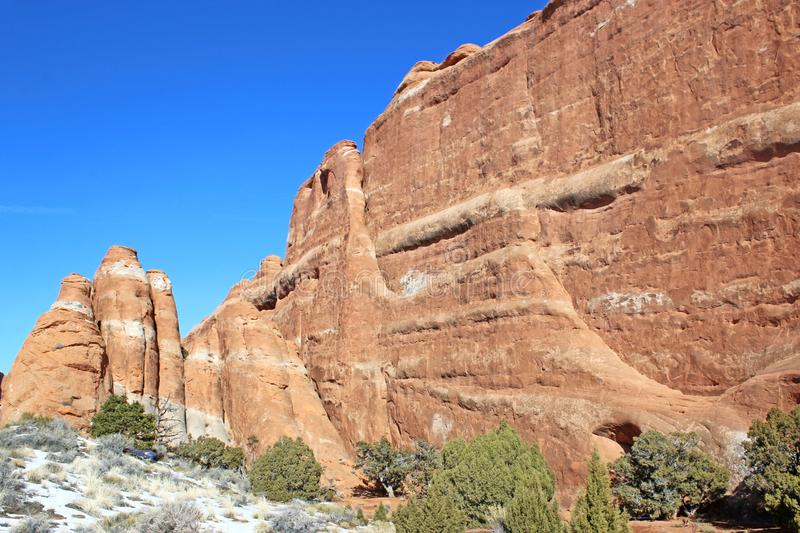 Rock formations, Arches National Park, Utah royalty free stock photo