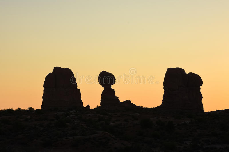 Rock Formations In Arches National Park, Utah stock image